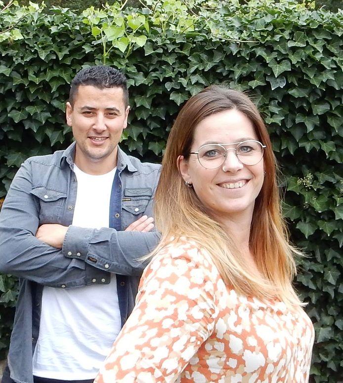 Bilal Aazzaoui en Lies Geurts van Stichting Next Move.
