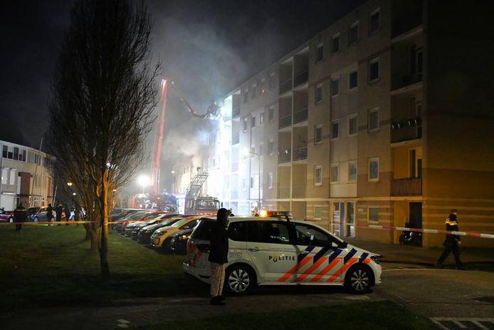 Grote brand in flatgebouw Vlissingen.