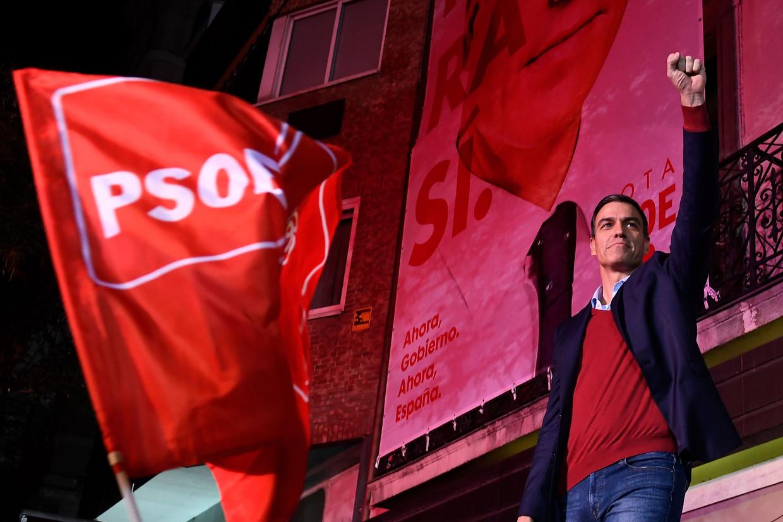 De PSOE van Pedro Sánchez werd zondag de grootste partij.