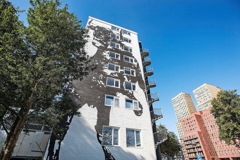 Appartementencomplex De Boel in Amsterdam. Het flatgebouw is van sociale huurwoning naar vrije sector gegaan.  Beeld Guus Dubbelman / de Volkskrant
