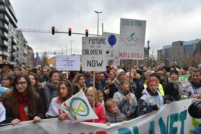 Zondagnamiddag worden opnieuw duizenden betogers verwacht in Brussel.