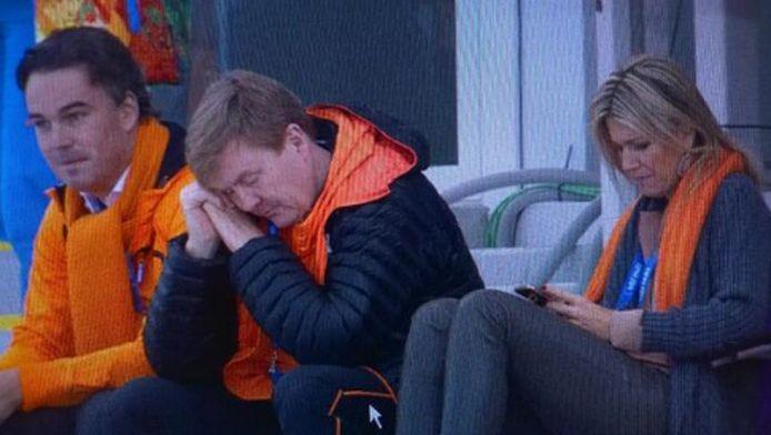 Doet Koning WIllem-Alexander een dutje?