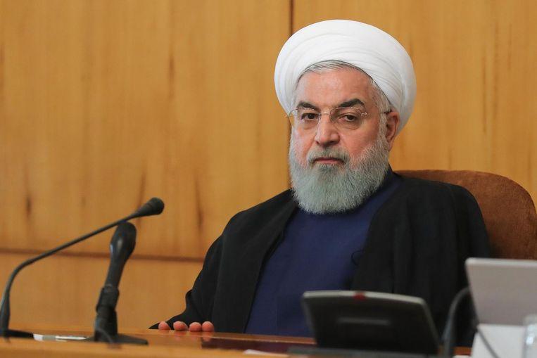 De Iraanse president Hassan Rohani.
