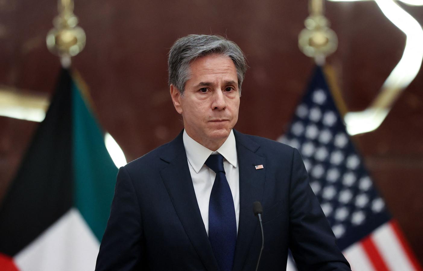 Le secrétaire d'État américain Antony Blinken lors d'une conférence de presse au Koweït, le 29 juillet 2021.