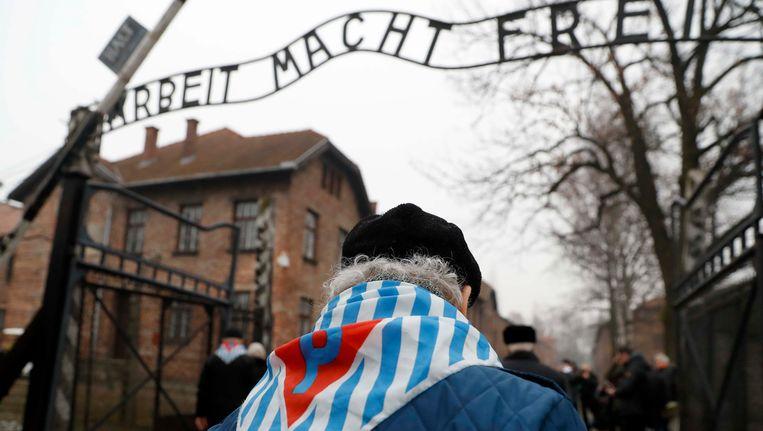 Herdenking in Auschwitz van de Holocaust. Beeld reuters