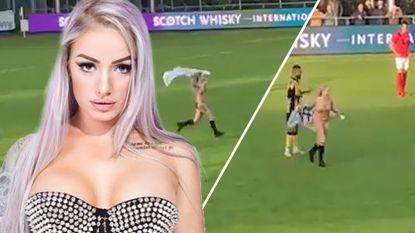 """Vrouwelijke streaker die de wereld rondging doet opvallend verhaal achter haar naakte optreden uit de doeken: """"Eerste keer dat ik voetbalmatch bezocht"""""""