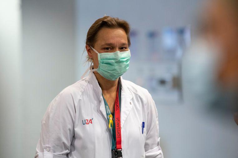 Professor Erika Vlieghe. Beeld Photo News