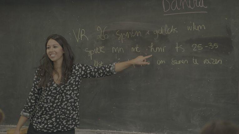 Danira Boukhriss Terkissidis in 'De Klas'. Beeld rv VRT