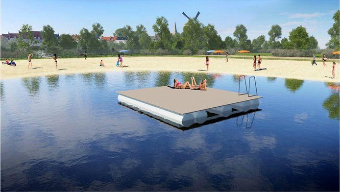 Aan het al of niet verlenen van de vereiste vergunning voor zandafgraving is de aanleg van een recreatiestrand met een zwemplas pal naast de stadshaven van Wijk bij Duurstede gekoppeld.