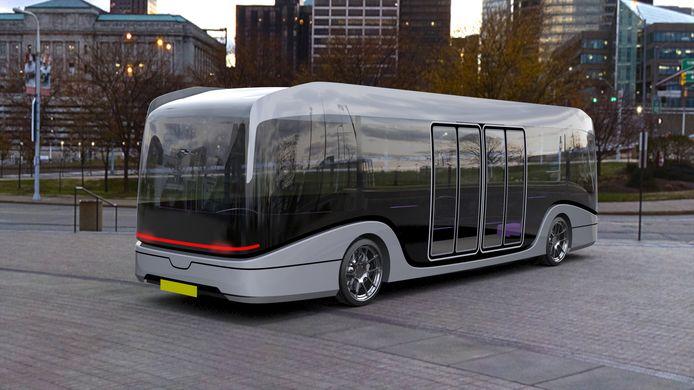Voorbeeld van een zelfrijdende bus.