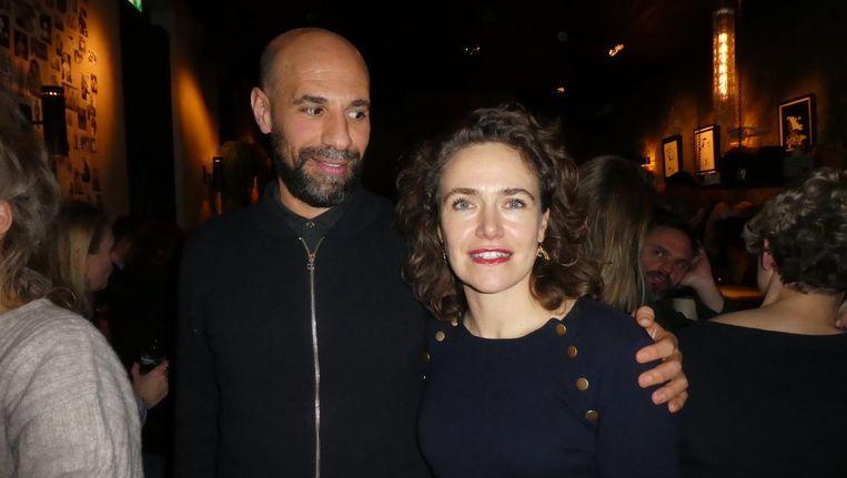 Schrijver/liefhebber Abdelkader Benali en actrice Gonny Gaakeer. Beeld Hans van der Beek