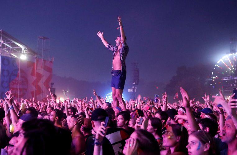 Festivalgangers op het muziekfestival Sziget in Boedapest, Hongarije. Beeld REUTERS