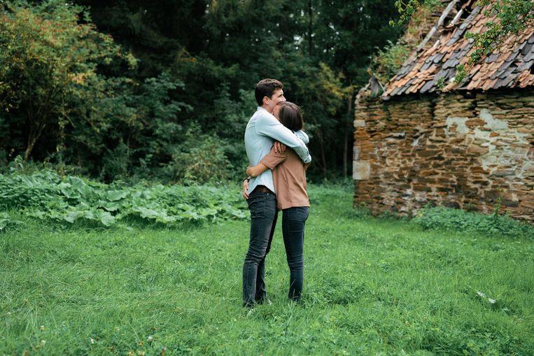 Astrid Collinge: 'Ik heb nog steeds momenten van neerslachtigheid, maar Louis is er altijd en dankzij hem zie ik dat het leven nog magnifiek kan zijn.' Beeld Damon De Backer