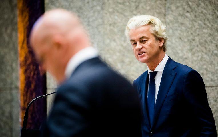Minister Grapperhaus (links) en Geert Wilders. Beeld ANP