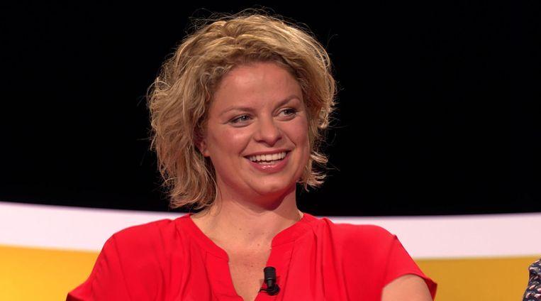 Kim Clijsters wordt vanavond onmiddellijk voor de leeuwen gegooid in 'De Slimste Mens ter Wereld'. Beeld SBS Belgium