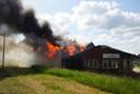 Een grote brand bij een voormalige scheepswerf in Hasselt.