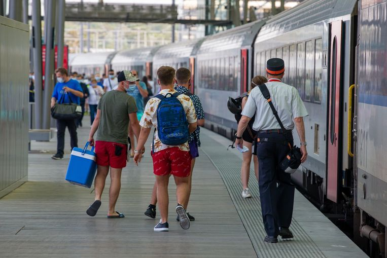 Het station van Oostende. Beeld BELGA