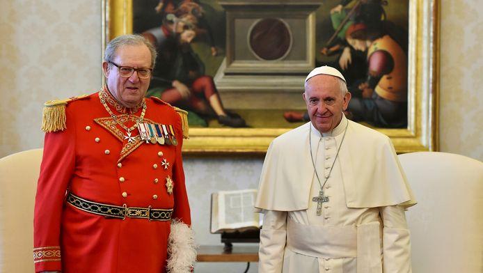 Matthew Festing et le pape François le 23 juin dernier.