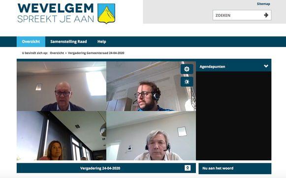 Online gemeenteraad Wevelgem