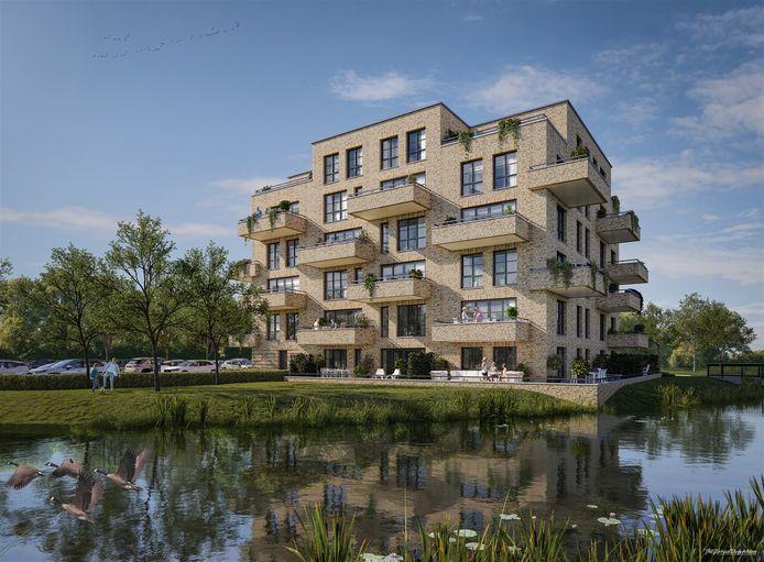 Impressie van appartementencomplex Veenhuys in 't Ven in Veghel.