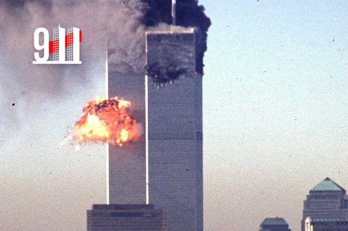 Dinsdagochtend 11 september 2001: een tweede gekaapt passagiersvliegtuig boort zich in de tweede toren van het World Trade Center.