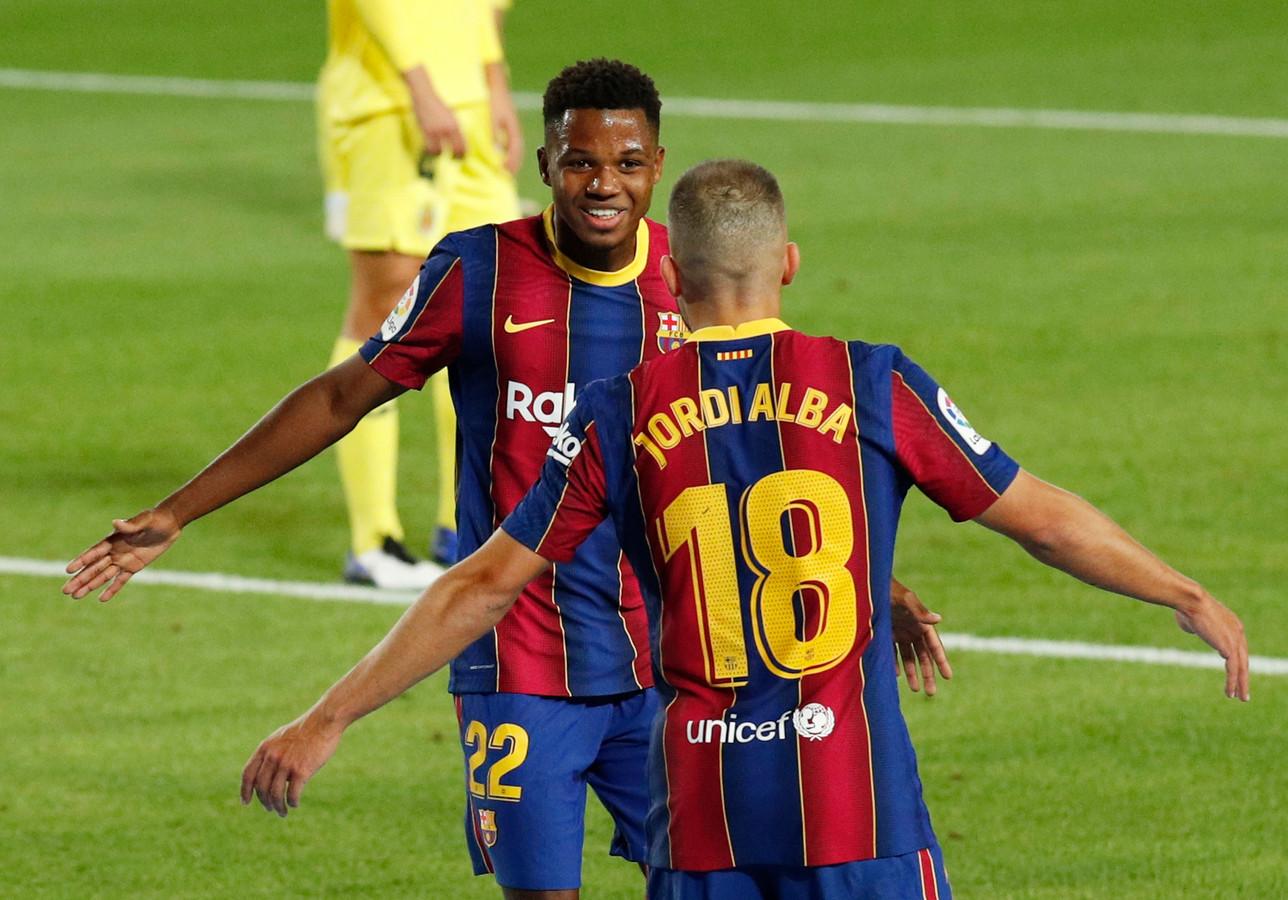 Ansu Fati (17) schitterde met twee mooie goals in de eerste twintig minuten van de wedstrijd.