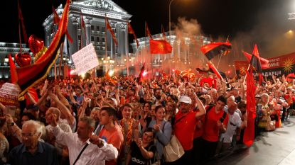 Macedoniërs de straat op tegen naamswijziging