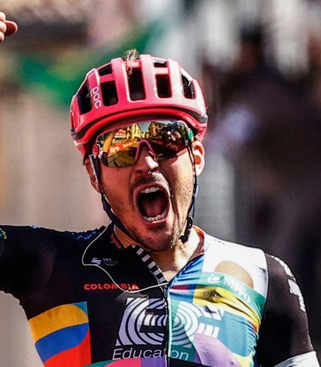 Bettiol wint langste etappe in de Giro na prachtig gevecht met Cavagna
