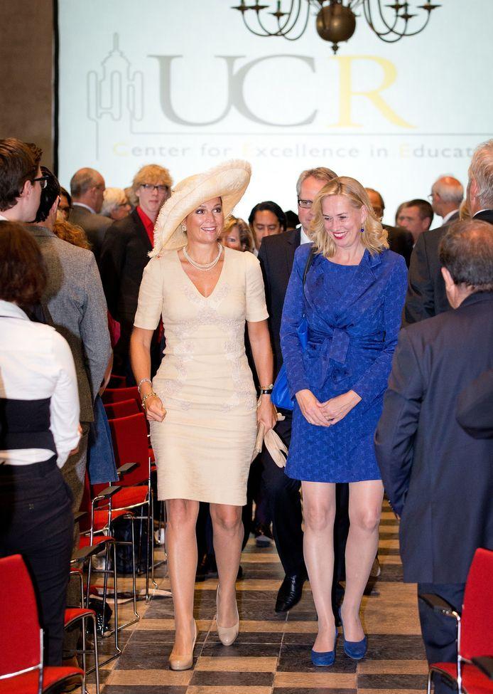 Tijdens de opening van het Center for Educational Excellence bij Roosevelt University in Middelburg.