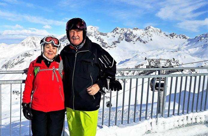 Sieglinde Schopf en haar man Hannes tijdens een skivakantie in Stuben am Arlberg, zo'n 50 kilometer van Ischgl.