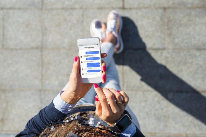 Smartphone ter illustratie.