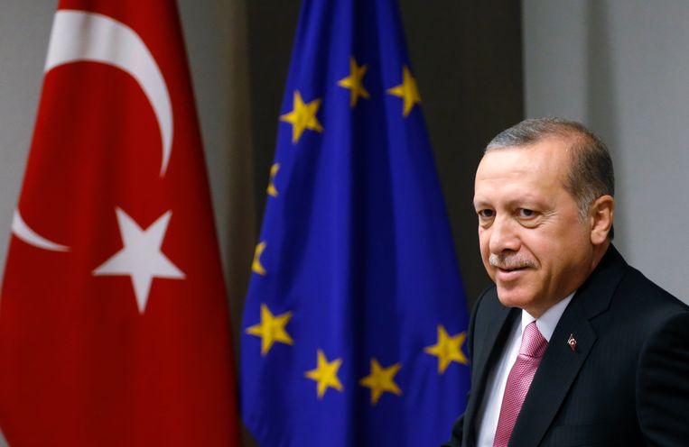 Turkse President Recep Tayyip Erdogan Beeld AFP
