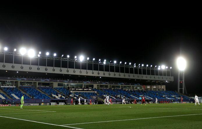 Het Estadio Alfredo Di Stefano, waar Real-Liverpool werd gespeeld.