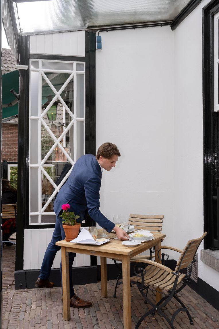 Eigenaar Roderick van Oosterom van Restaurant De Lage Vuursche. Beeld Els Zweerink