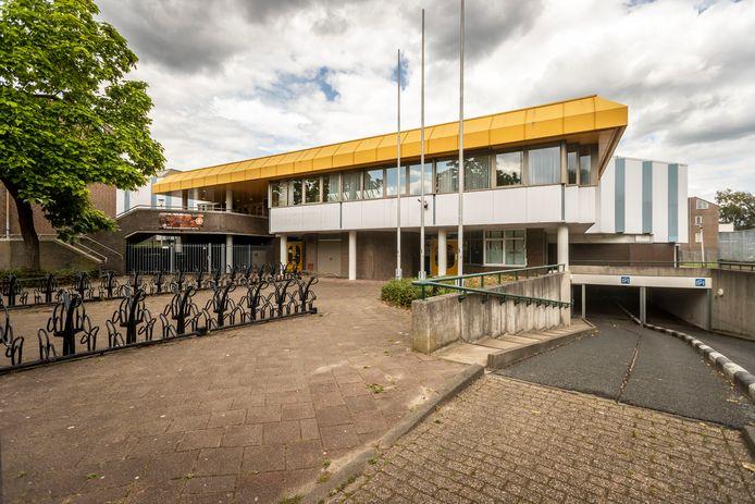 De City Sporthal in het centrum van Helmond. Dinsdag 18 augustus opent hier een corona-teststraat.