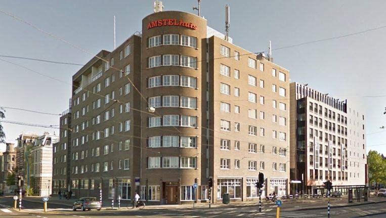 Het Amstelhuis op de hoek van de Ceintuurbaan en de Amsteldijk Beeld Google Street View