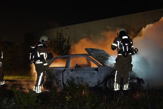 Autobrand in Rijen.