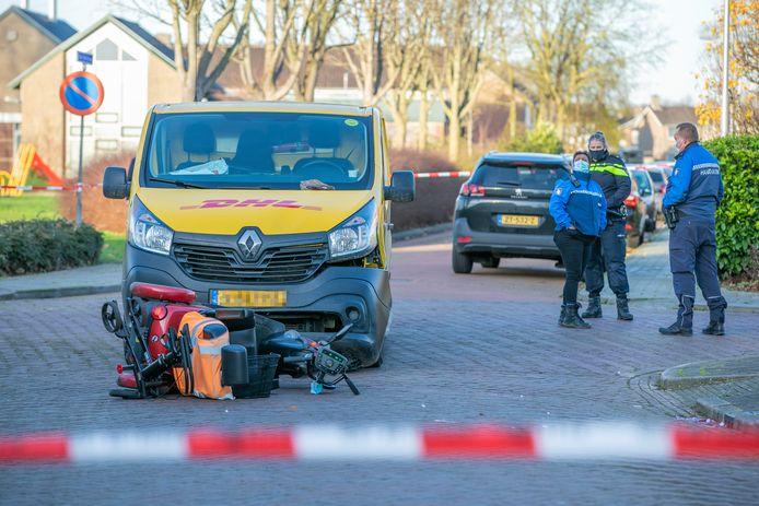 De betrokken voertuigen na het ongeluk.
