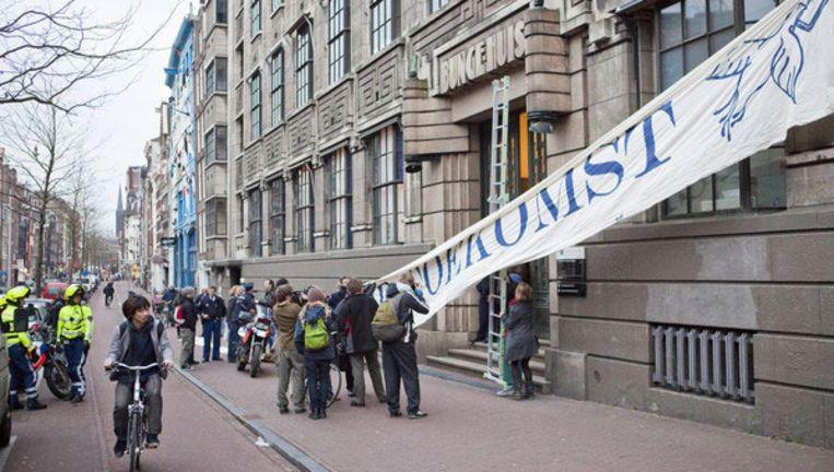 De betogers, onder wie studenten van universiteiten, hogescholen en zelfs enkele middelbare scholieren, zijn van plan drie dagen te blijven. Foto Maarten Brante Beeld