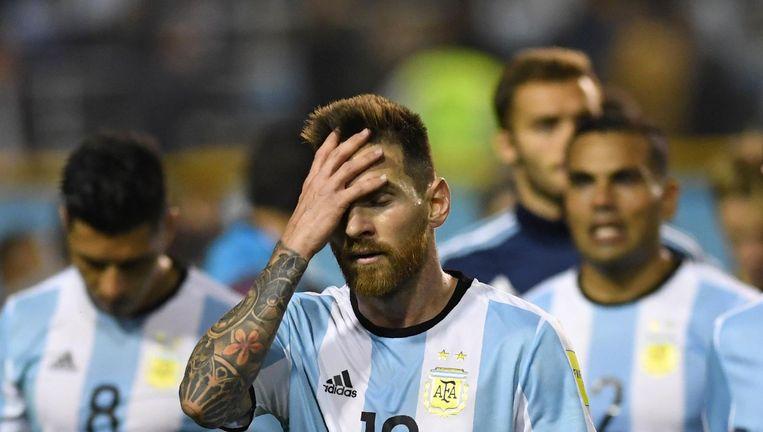 Messi na afloop van de wedstrijd. Beeld AFP