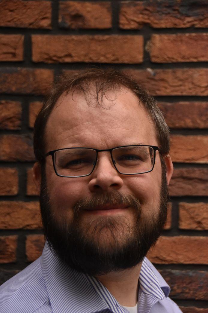 Gertjan Hobert, de nieuwe lijsttrekker van D66 in Meierijstad.