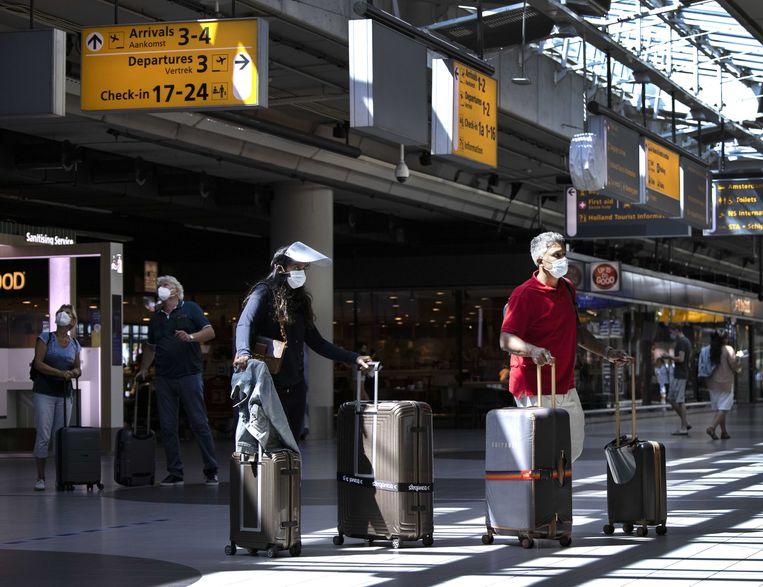 Reizigers op Schiphol. Beeld ANP