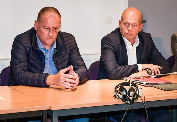 Fred Vanderbiest (links) in het gezelschap van zijn advocaat Sven Mary.