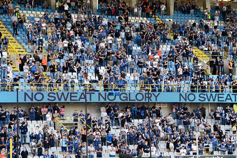 Supporters van Club Brugge tijdens de supercup, afgelopen zaterdag. Beeld Photo News