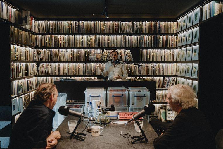 Luc Janssen op bezoek bij David & Stephen Dewaele Beeld Vincent Van Hoorick/Willy