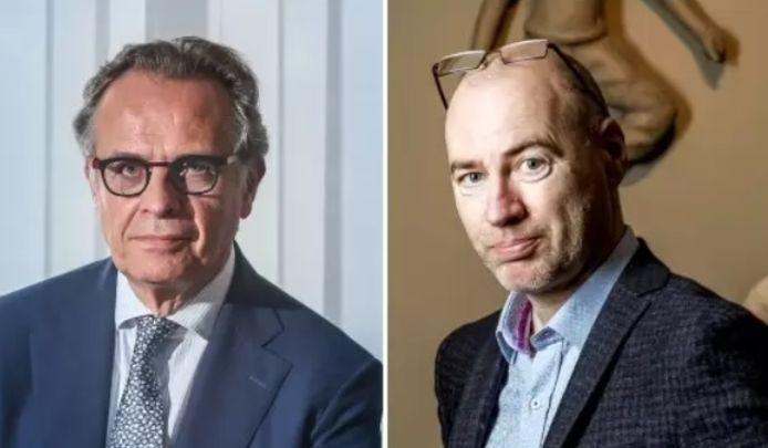 Xavier De Cuyper, le patron de l'agence fédérale des médicaments et des produits de santé (AFMPS) et Dirk Ramaekers, le chef de la task-force vaccination.