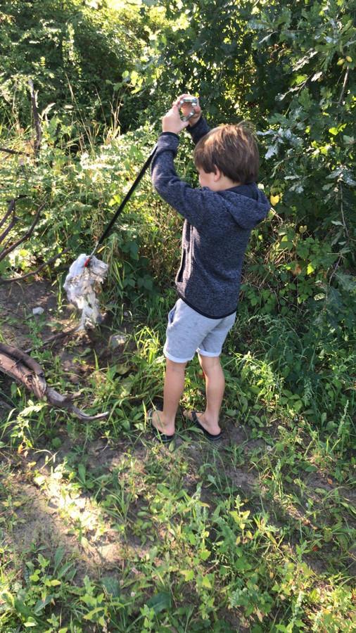 Kinderen en hun ouders waren zaterdag in Vught druk in de weer tijdens 'World Cleanup Day'.