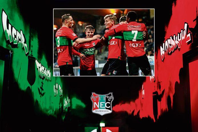 NEC is een van de clubs met minder contractspelers komend seizoen.