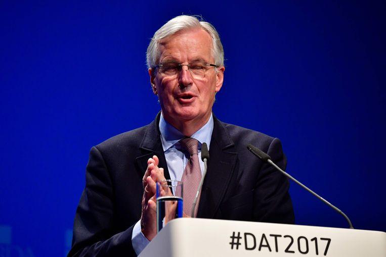 Michel Barnier, brexitonderhandelaar voor de EU. Beeld AFP