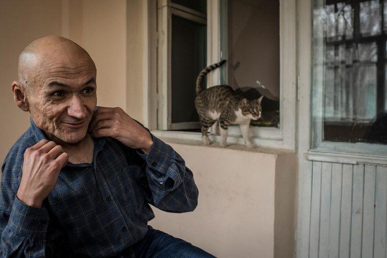 Jamshid Karimov is de neef van de overleden president Karimov, die hem tien jaar geleden liet opsluiten in een psychiatrische inrichting. 'Mijn oom was bang dat ik mijn mond open zou doen in het Westen.' Beeld Yuri Kozyrev / Noor